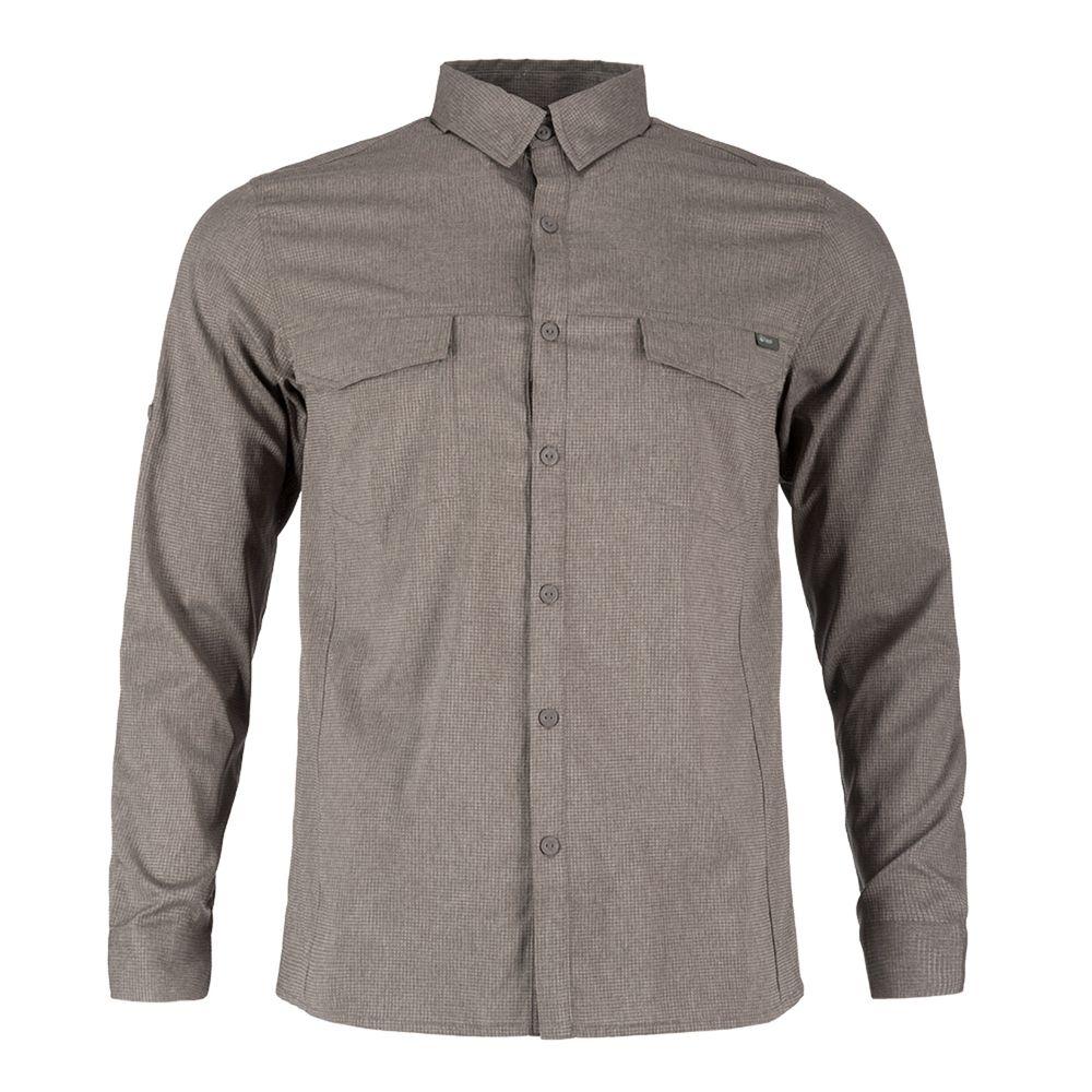 HOMBRE-M-Rosselot-Q-Dry-Shirt-L-S-M-Rosselot-Q-Dry-Shirt-L-S-Melange-Cafe--81